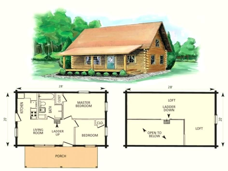 Image result for 2 bedroom cabin with loft floor plans