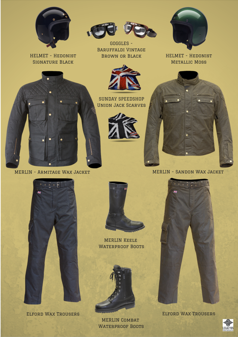 Heritage Style Motorcycle Clothing Legacy85 Motorcycle Outfit Motorbike Clothing Biking Outfit