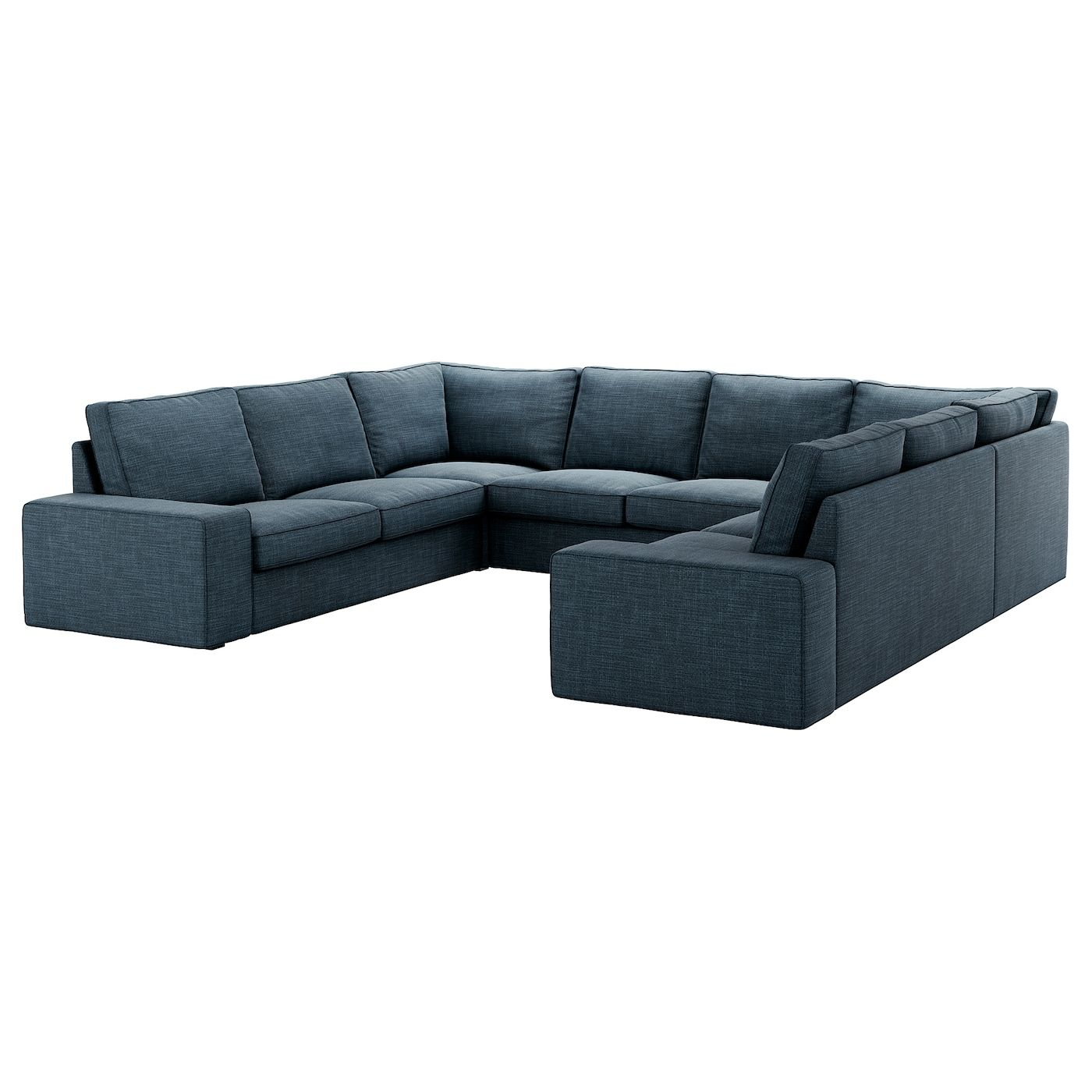 Kivik Sofa U Form 6 Sitzig Hillared 8 Platze Dunkelblau Ikea Osterreich In 2020 Blue Sectional U Shaped Sofa Ikea Sofa