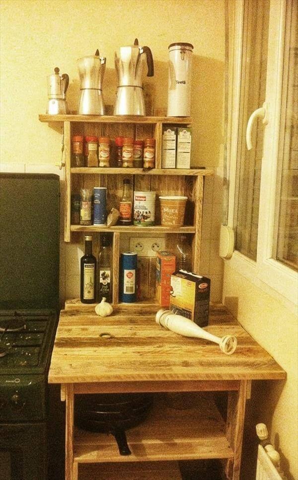 Diy Paletten Tisch Mit Regalen Palettentisch Paletten