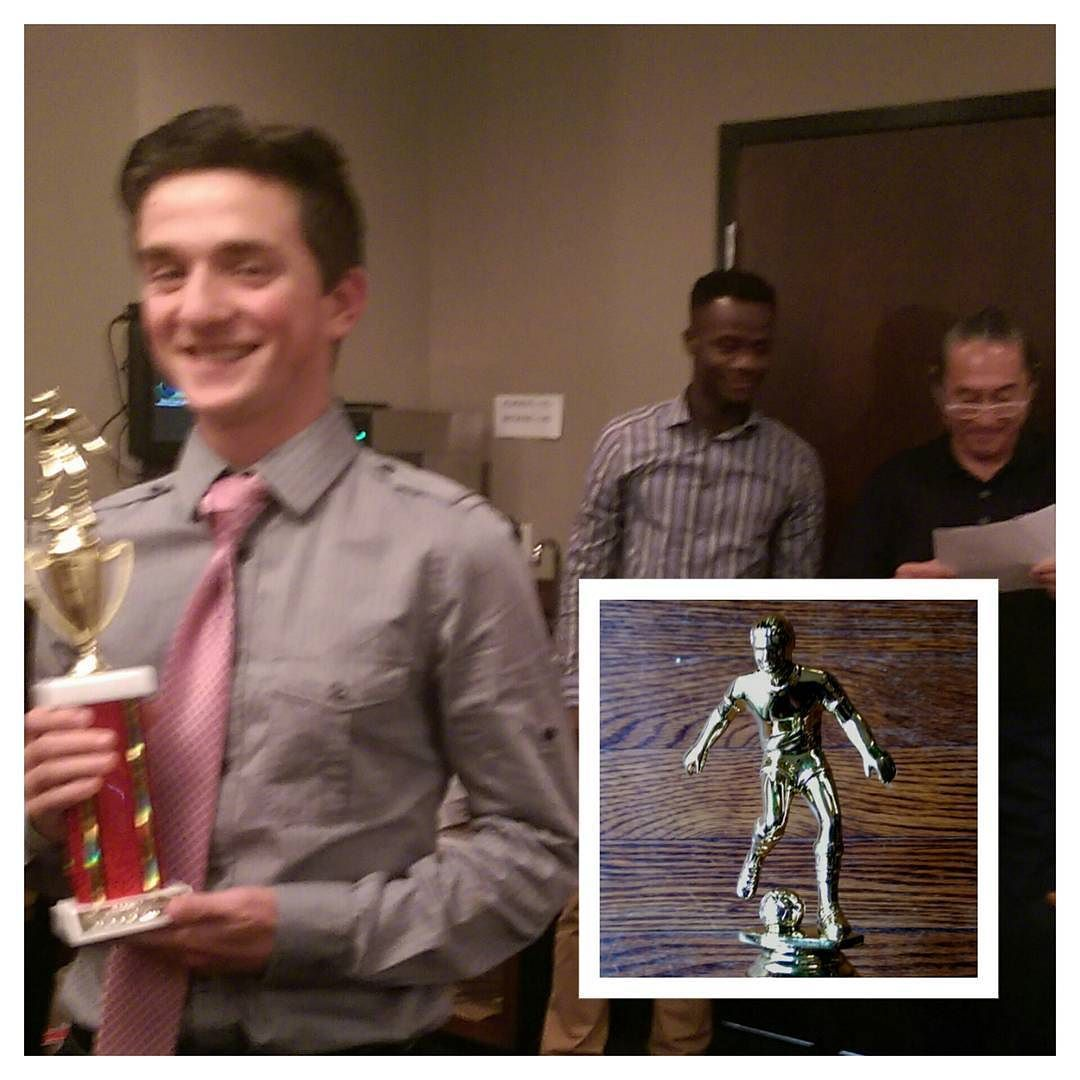Soccer Banquet. Proud Father. Team Leadership Award. - #soccer #futbol #trophy #leadership