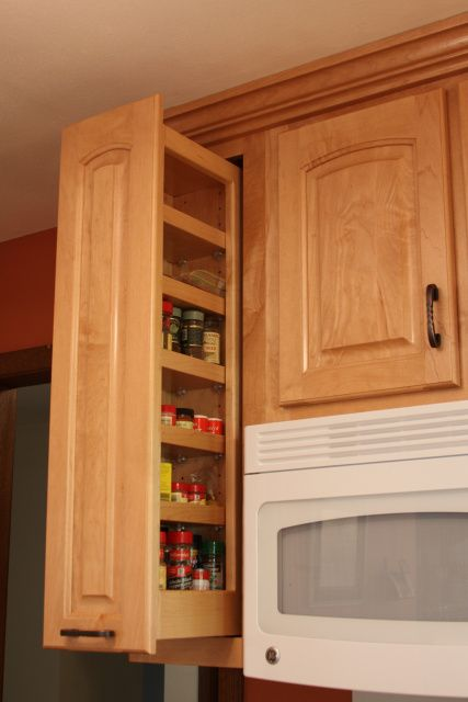 Gentil Pull Out Spice Rack For Upper Cabinets Kitchens