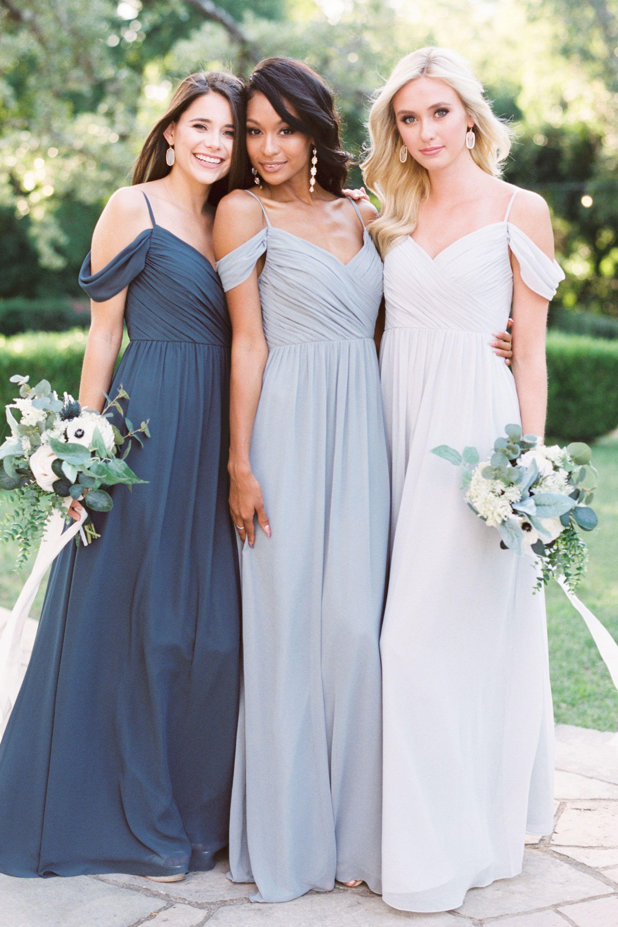 Lily Chiffon Dress Off Shoulder Bridesmaid Dress Bridesmaid