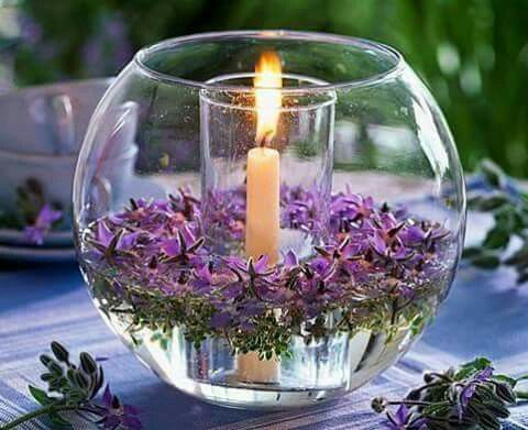 Pin de Magali Hernandez en flowers arrangements Pinterest - centros de mesa para boda con velas flotantes