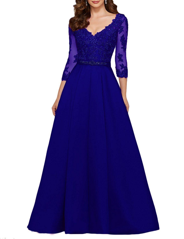 Amazon oyisha womens sleeve long appliqued prom dress a