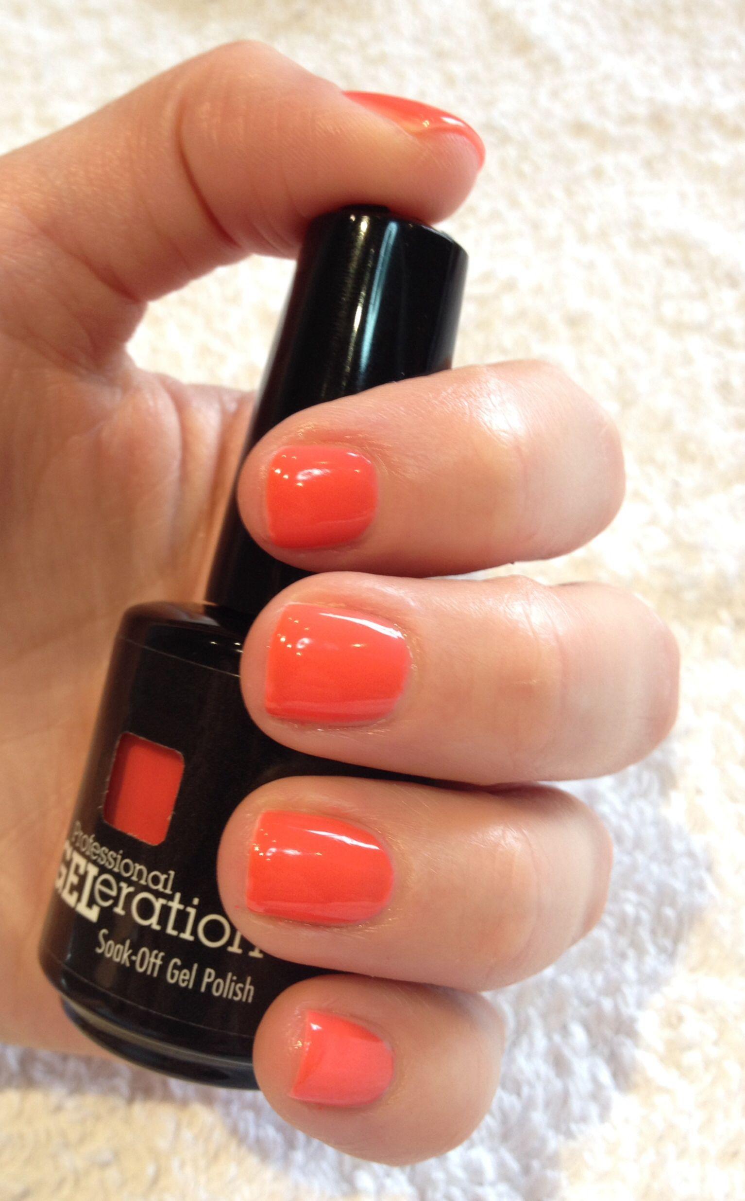 Orange nails for summer. This Jessica GELeration gel ...