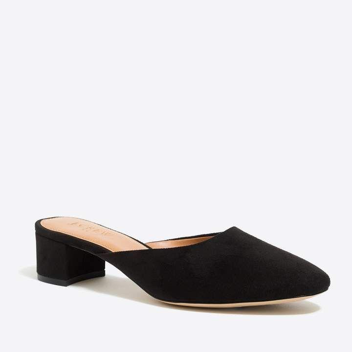 0af52fa8f3 J.Crew Factory: Block-heel mules | Products | Heeled mules, Heels ...