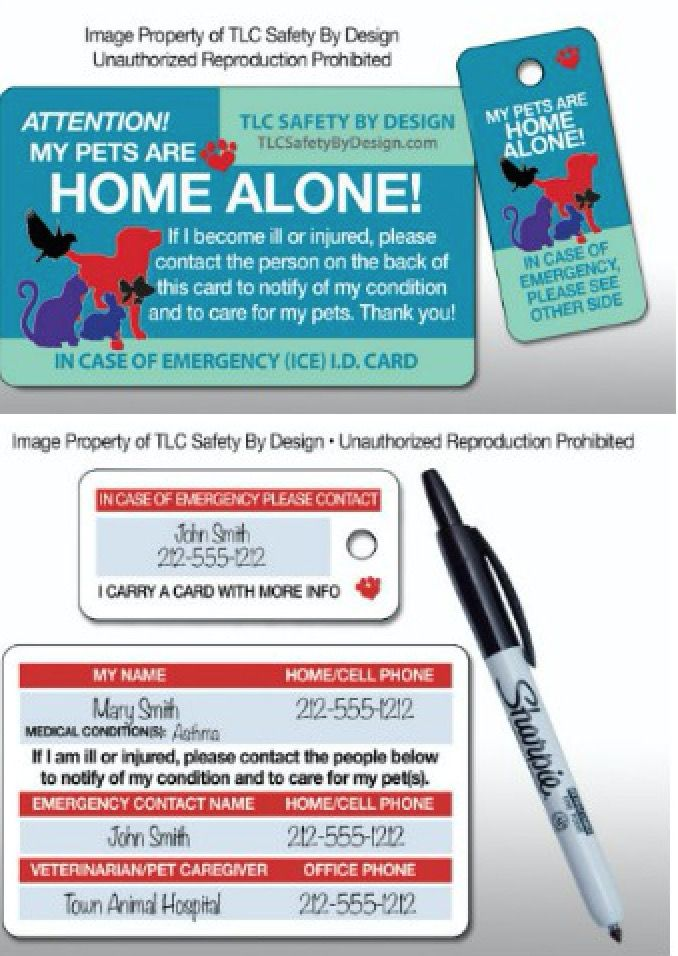 Pet Home Alone Card Is Perfect For Emergency Situations Pet Care Printables Pet Home Home Alone