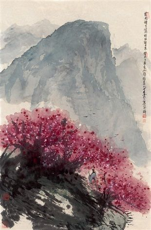 Sound of Spring / 花雨晴天落,松风终日来 by Cui Ruzhuo