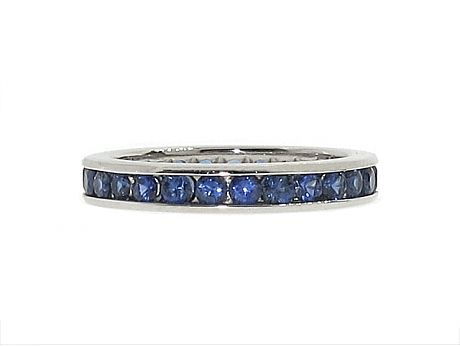 $2,050 Tiffany & Co. Sapphire Eternity Band in Platinum