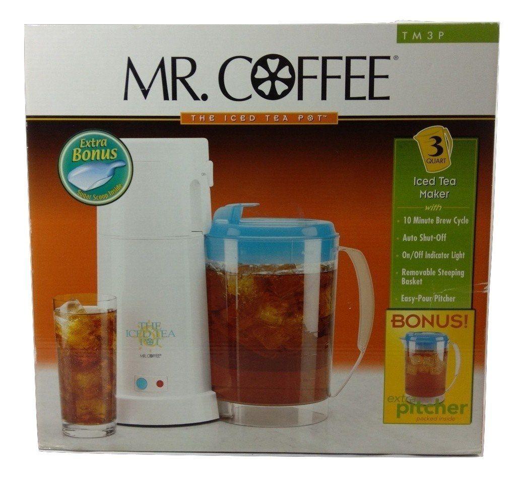 Mr. Coffee 3 Quart Iced Tea Maker TM3P w/ Bonus Pitcher