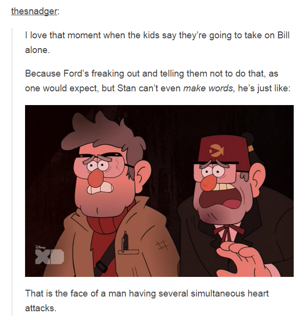 thesnadger: I love that moment when the kids say they're going to take on Bill alone. That is the face of a man having several simultaneous heart attacks.