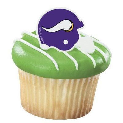 Minnesota Vikings NFL Football Cupcake Rings by PlatesAndNapkins, $2.95