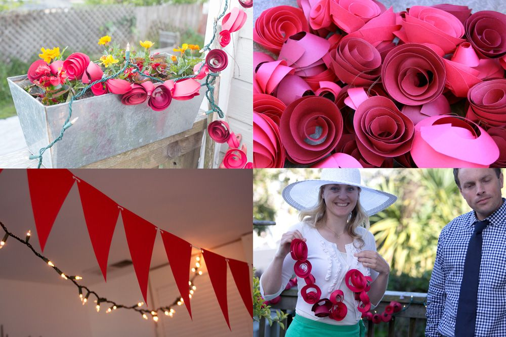 Kentucky derby party decorations and garland
