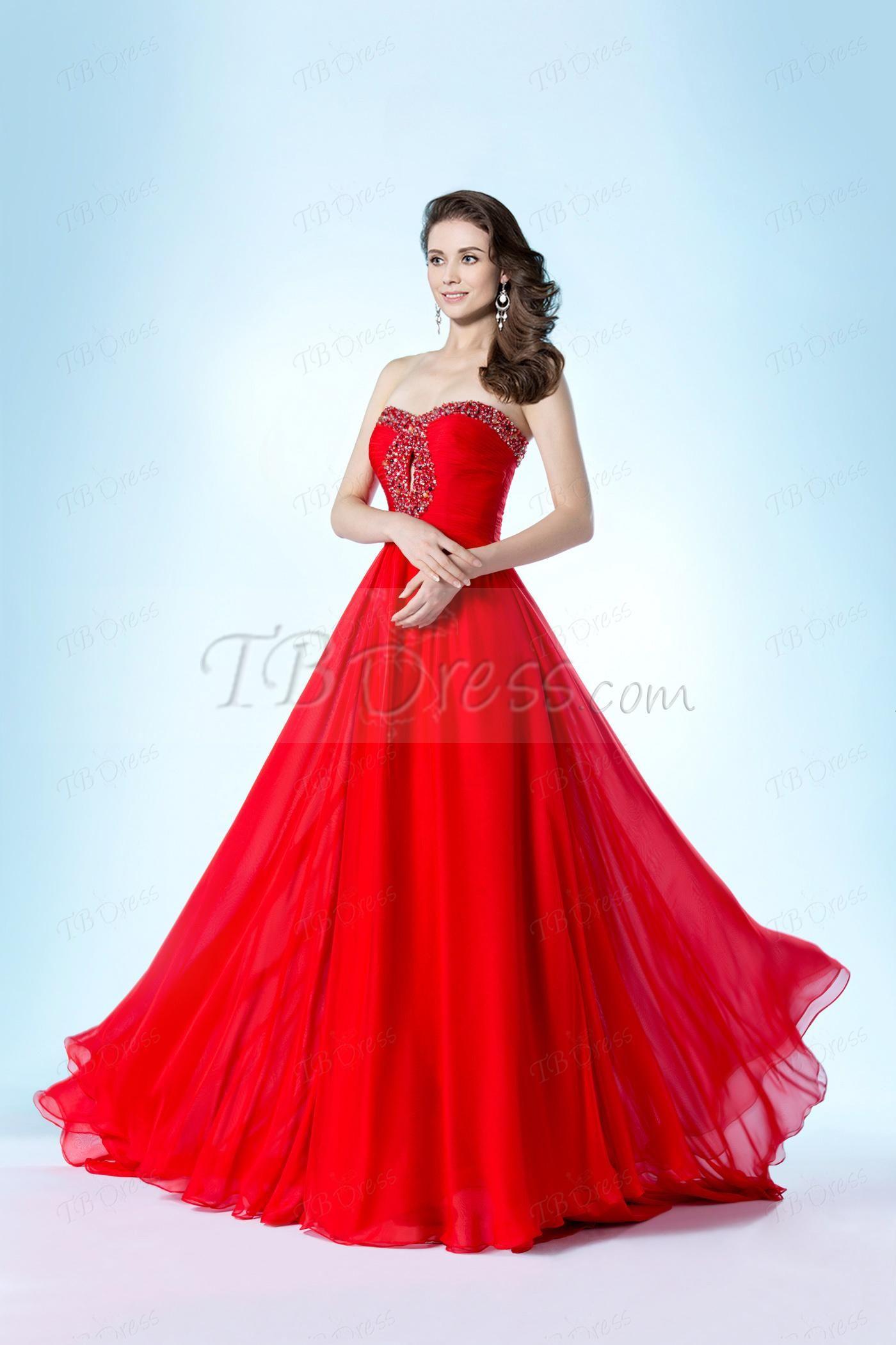Pretty prom dress pretty dresses pinterest prom red fashion
