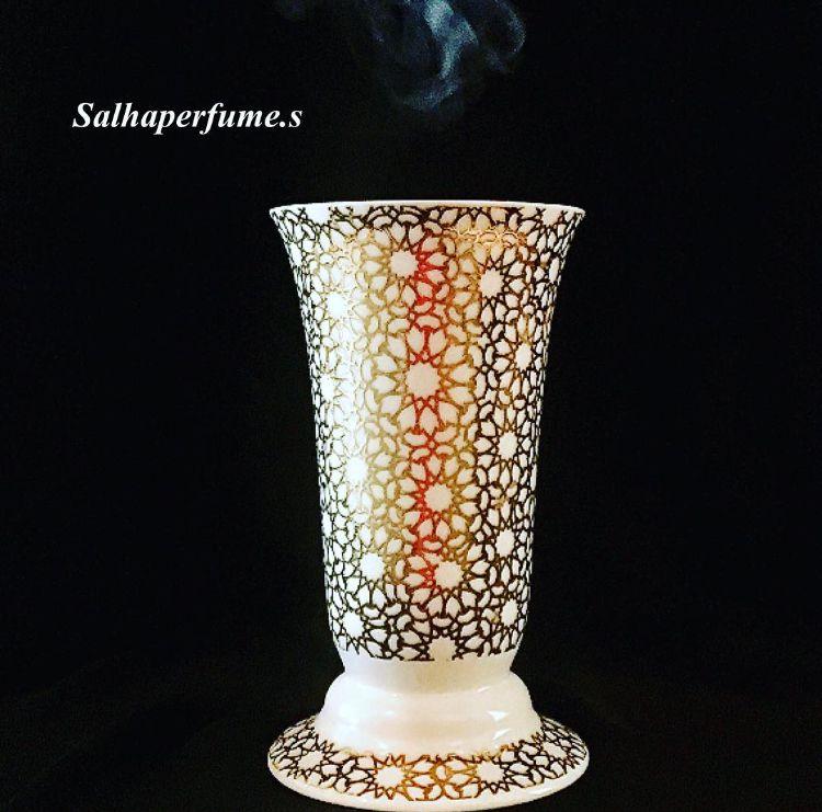 صالحه بارفيوم جديدنا مبخر الخزف السعر ٢٠ دك متوفر النقش الذهب النقش الفضي دار صالحه للعطر عنوان حطين ق٢ ش٢ Home Decor Decor Vase