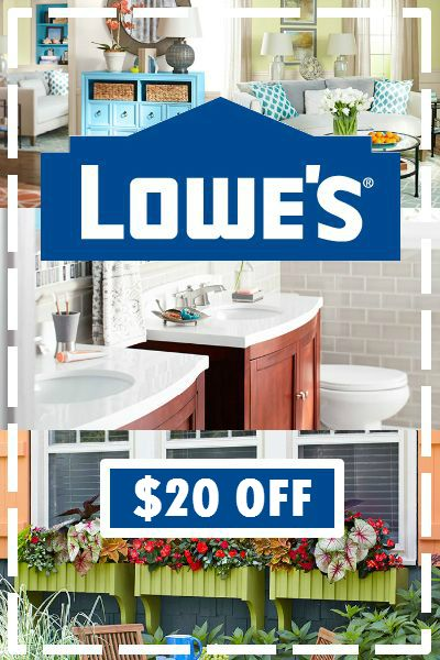 20 off Lowes Coupon Get 20 off 100 orders at Lowes for a