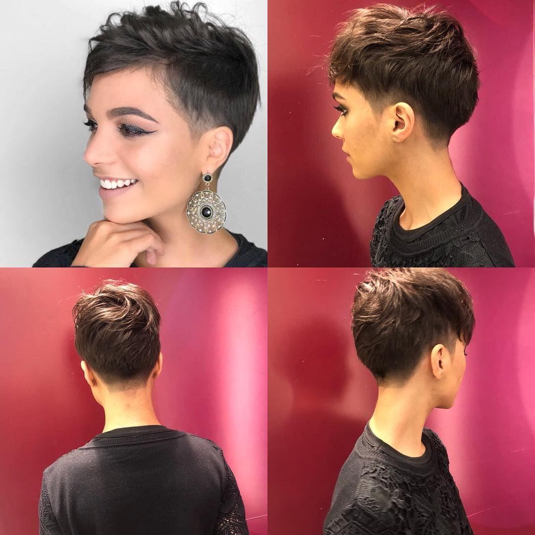 Frauen grau undercut kurz Frisuren Frauen
