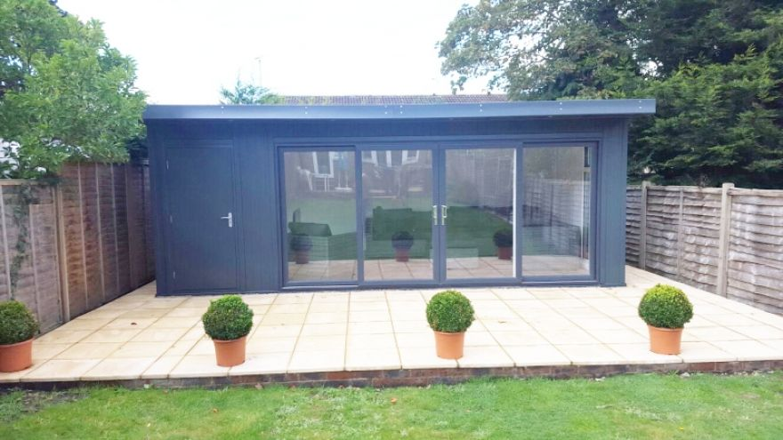 17x13 6x13 Combination Garden Room With Upvc Doors In