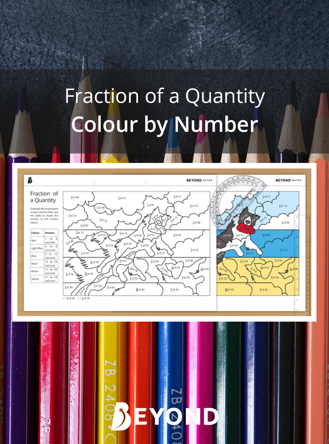 This Engaging Colour By Number Worksheet Works Well As A