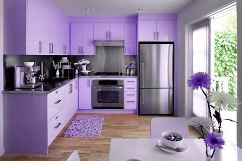 Vibrant Purple Kitchen