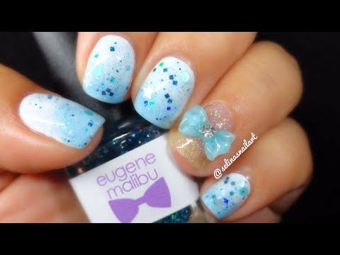 Simple baby blue nail art nail designs tutorials pinterest simple baby blue nail art prinsesfo Image collections