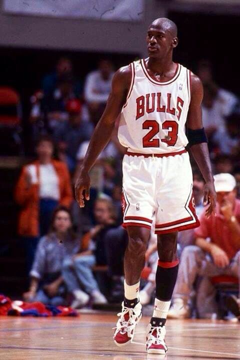 0894a075c4c675 Michael Air Jordan wearing the white red Carmine VI 6 shoes.