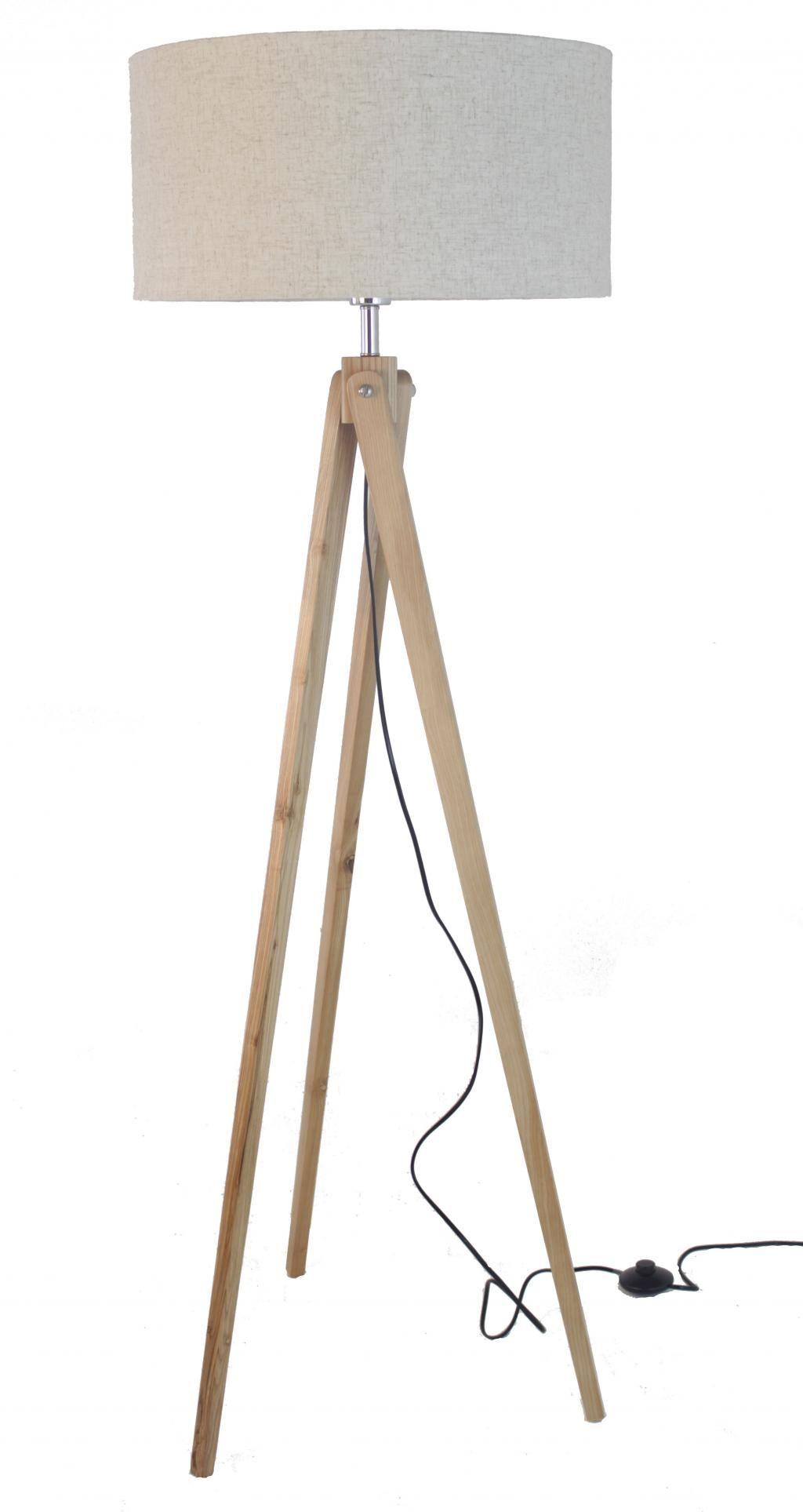 Interesting Stehleuchte Tripod Tiger Holz Creme Rob U Ruby With Stehleuchte  Tripod
