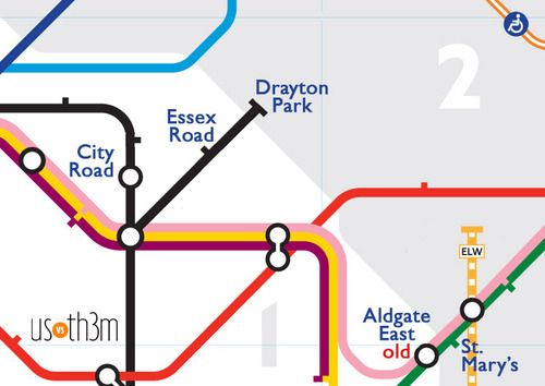 Ghost stations of the London Underground on the classic Tube map by