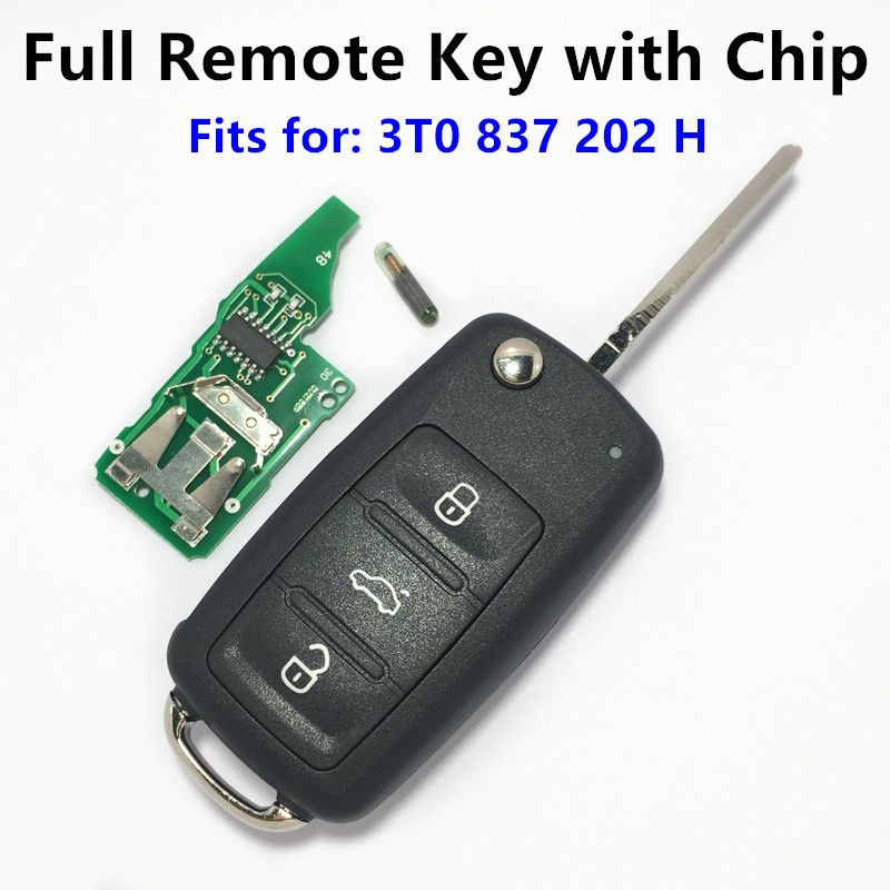 Skoda Citigo Fabia Roomster Superb Complete Remote Key Fob 3T0837202H 434Mhz.