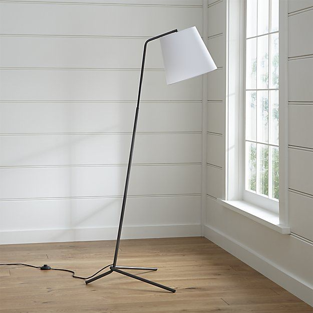 Angle pewter floor lamp crate and barrel floor lamp pewter and shop angle pewter floor lamp pewter finished tubular steel topped with a pert white aloadofball Gallery
