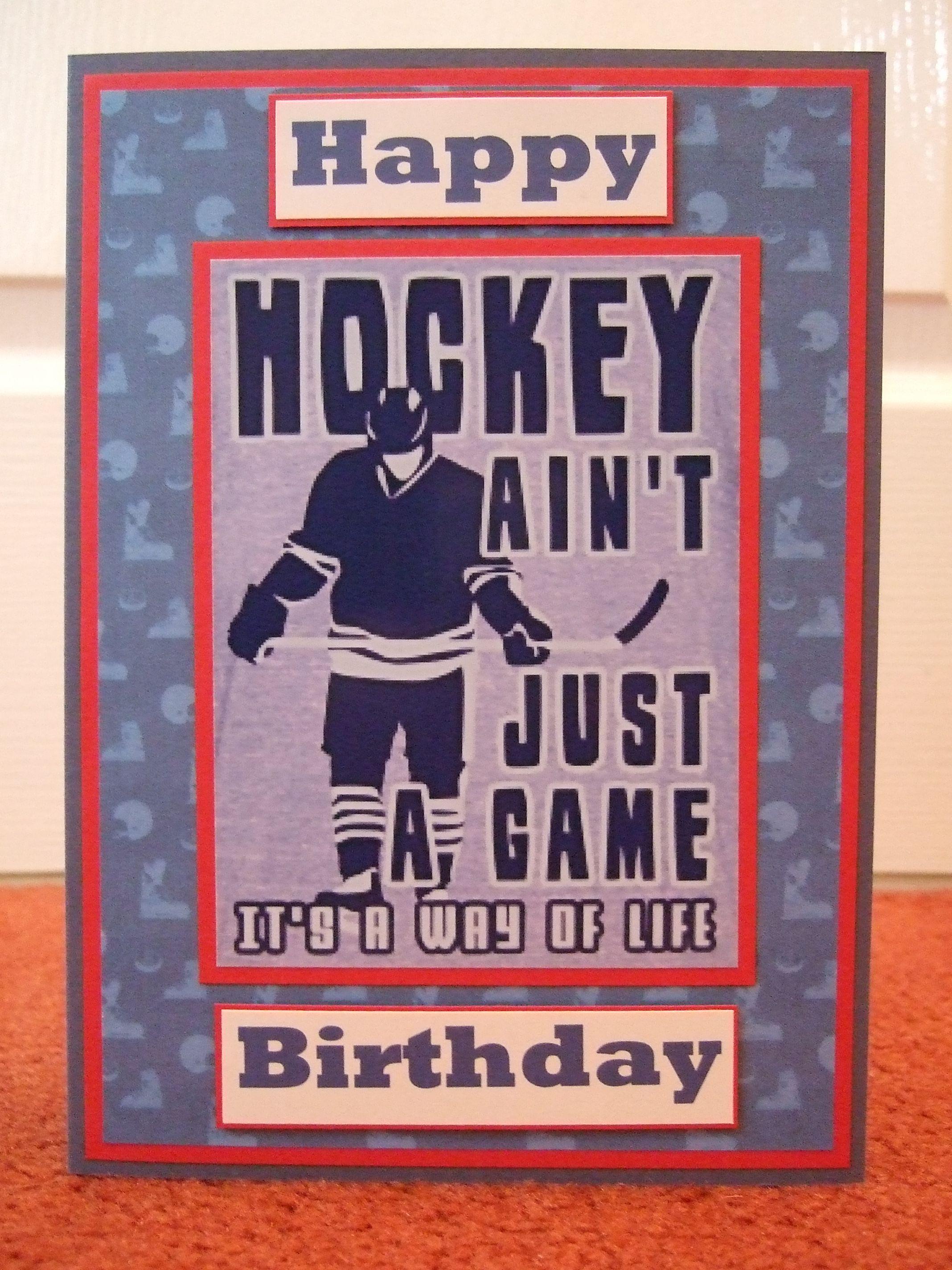 Ice Hockey Bday Cards Happy Birthday Kids Inspirational Cards