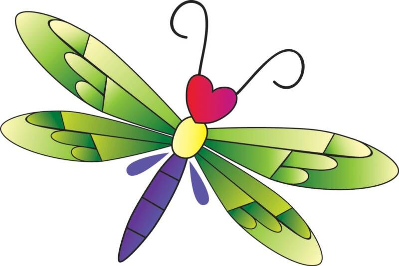 cartoon dragonflies - clipart