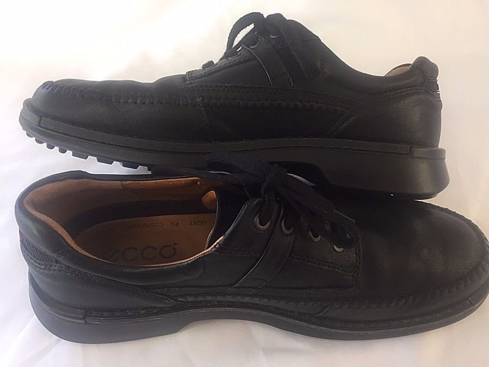 Size 45 11 11.5 ECCO Mens Shoes Black Lace Up Loafer Oxford Dress Casual  Work