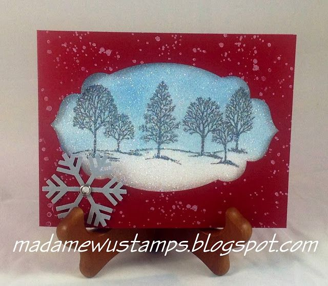 Stampin' Up! Lovely as a Tree Winter Scene