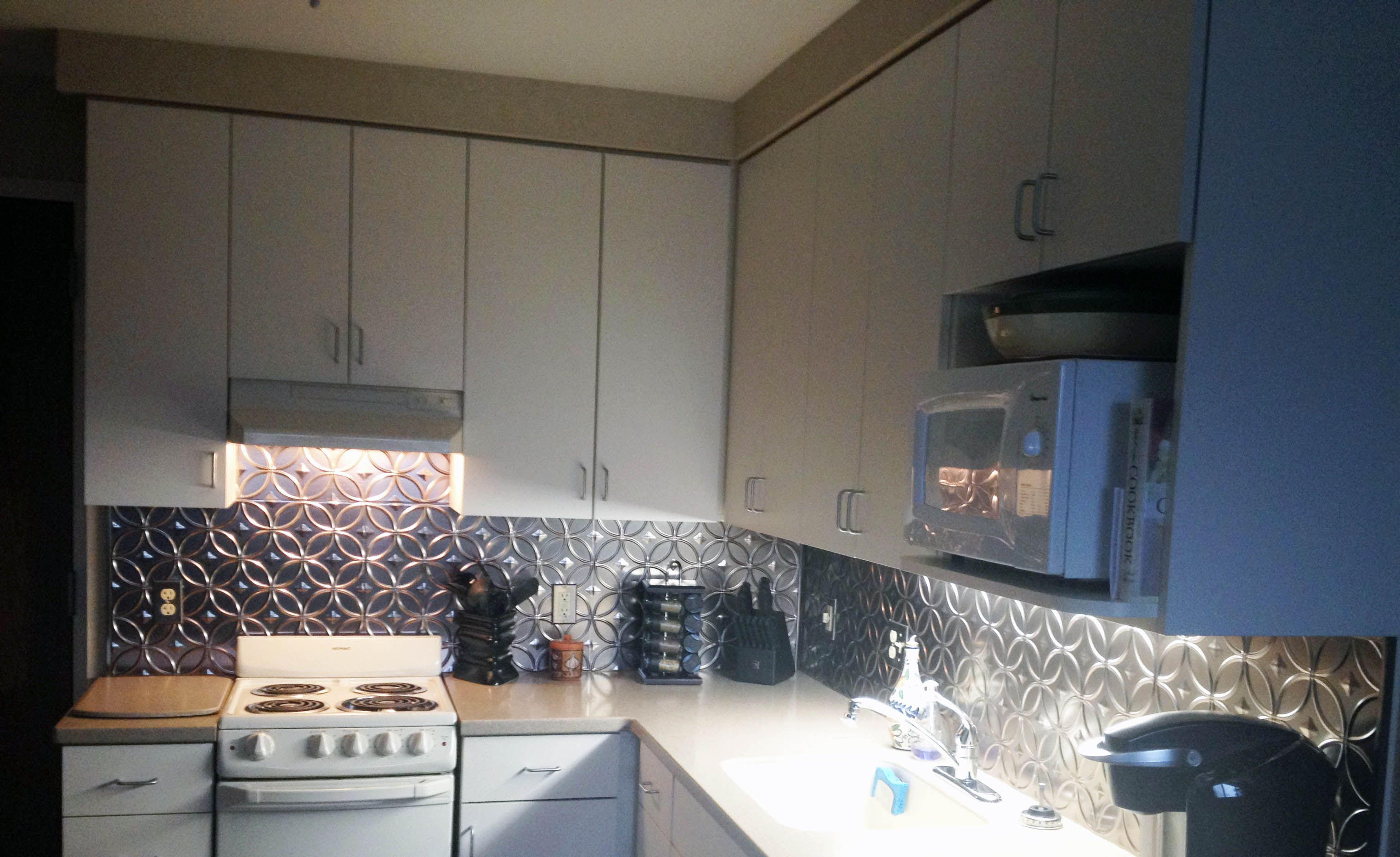 Excellent Fasade Backsplash Rings In Brushed Nickel Customer Download Free Architecture Designs Salvmadebymaigaardcom