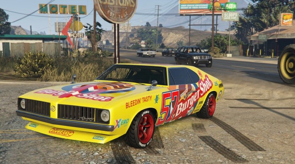 Burger Shot Stallion Gta 5 Front Gta 5 Muscle Cars Gta Cars Gta
