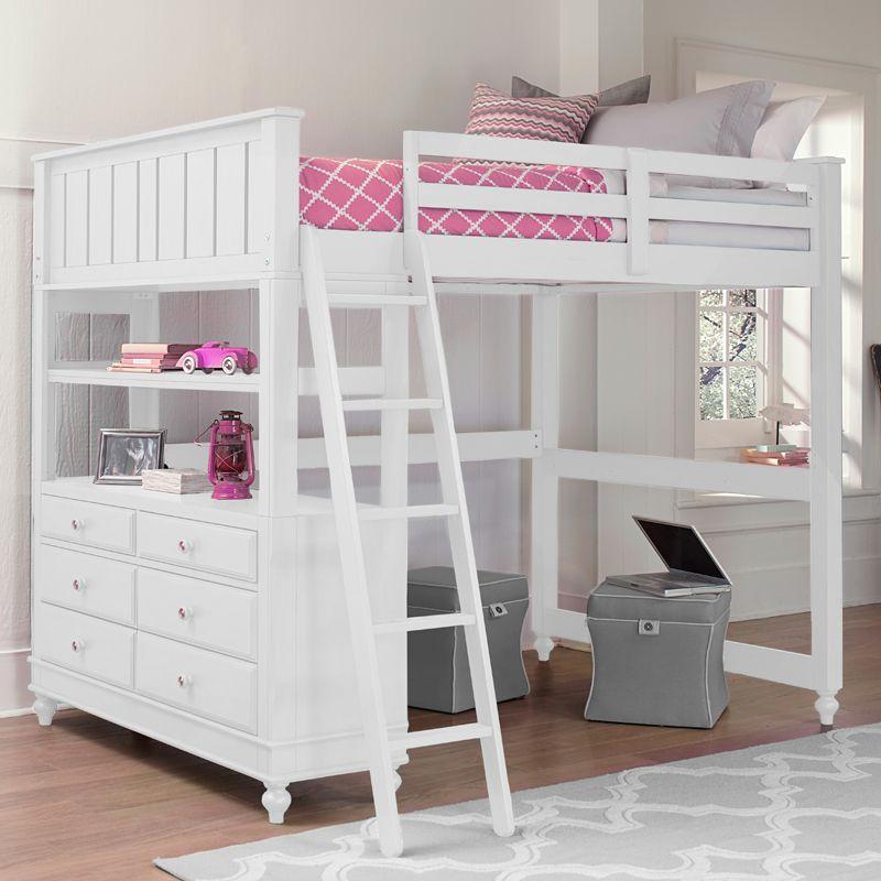 Best White Lake House Loft Bed Kinderhochbett Betten Für 400 x 300