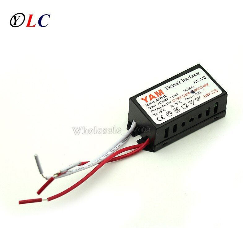 110v 130v To 12v 50w Halogen G4 Light Bulb Led Driver Power Supply Converter Electronic Transformer 110v 130v Halogen Led Tape Lighting Led Drivers Bulb