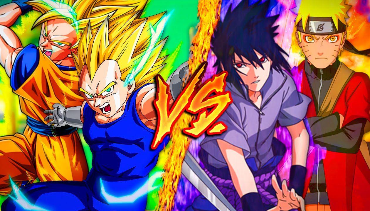 Goku Vegeta Vs Naruto Sasuke Combates Mortales De Rap Jay F Mc Goku Naruto Sasuke
