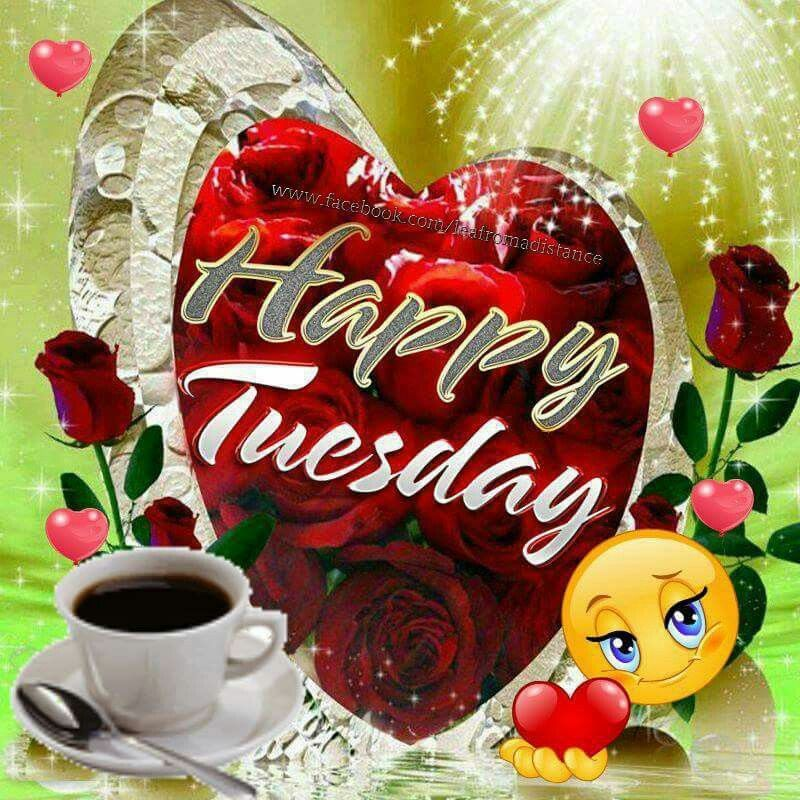 Happy Tuesday heart smiley coffee | Good morning tuesday