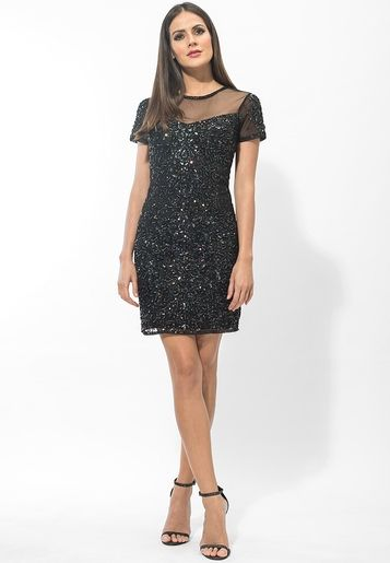 0771d0d737 Miss Selfridge-Black Mia Sweetheart Dress | Miss Selfridge ...