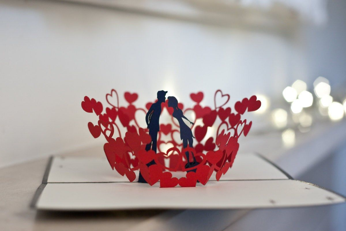 3d Heart Pop Up Card Template Pdf Items Similar To With 3d Heart Pop Up Card Template Christmas Card Templates Free Heart Pop Up Card Pop Up Card Templates