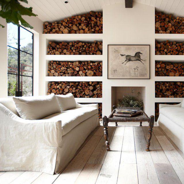 b ches comment bien les ranger autour de la chemin e cottage style pinterest la. Black Bedroom Furniture Sets. Home Design Ideas
