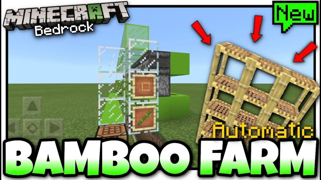 Minecraft Bamboo Farm Automatic Tutorial Mcpe Xbox