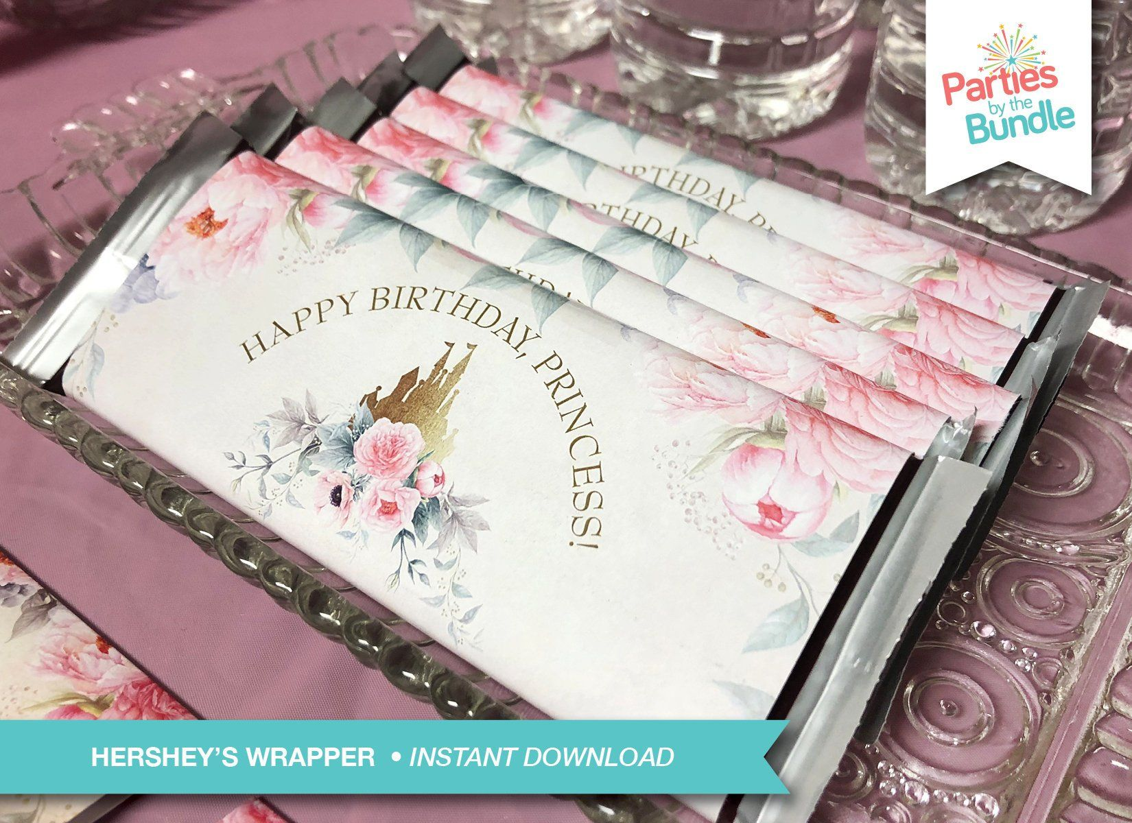 Princess Candy Wrapper Hershey Birthday Party Printable