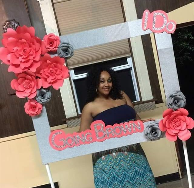 Photo Booth Frame With Paper Flowers