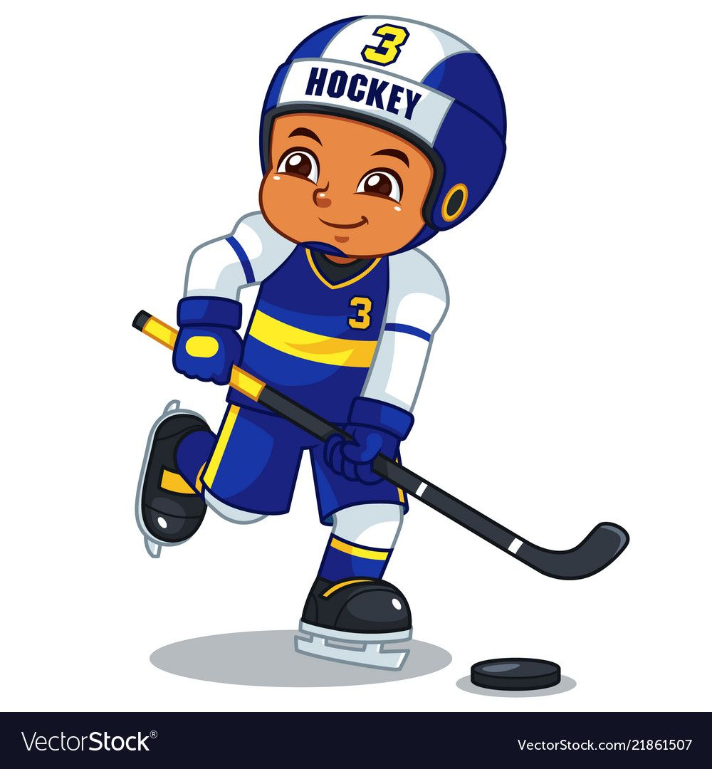 Ice Hokey Player Boy Ready To Shoot Vector Image On Vectorstock Cartoon People Cartoon Kids Vector