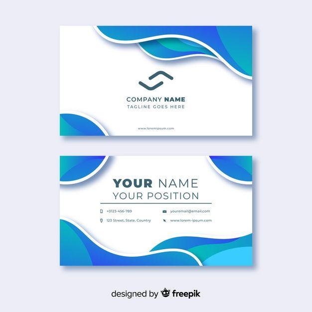 Plantilla de tarjeta de visita abstracta  Premium Vector