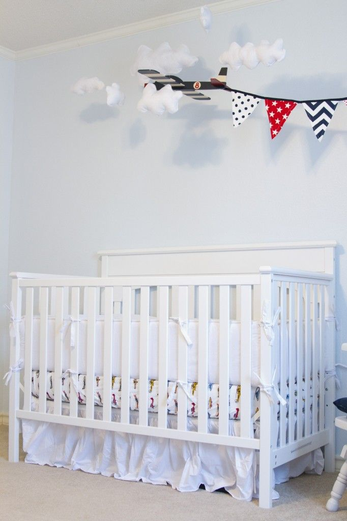 Love Everything About This Boy Nursery Project White Vintage Airplane Crib